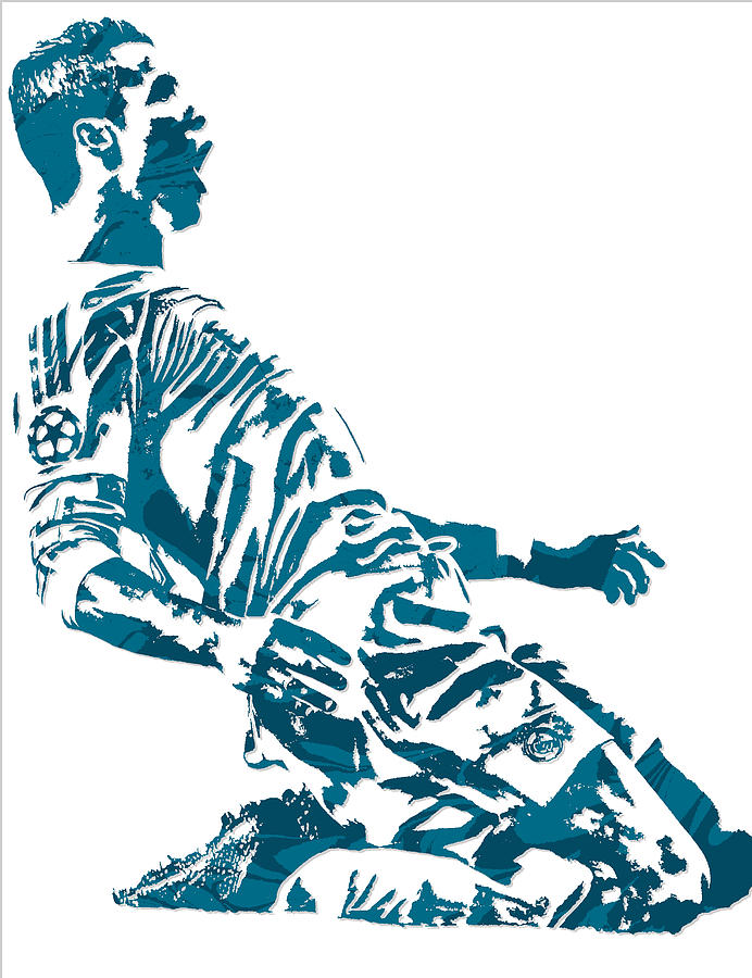 692x900 Cristiano Ronaldo Real Madrid Pixel Art 2 Mixed Media By Joe Hamilton