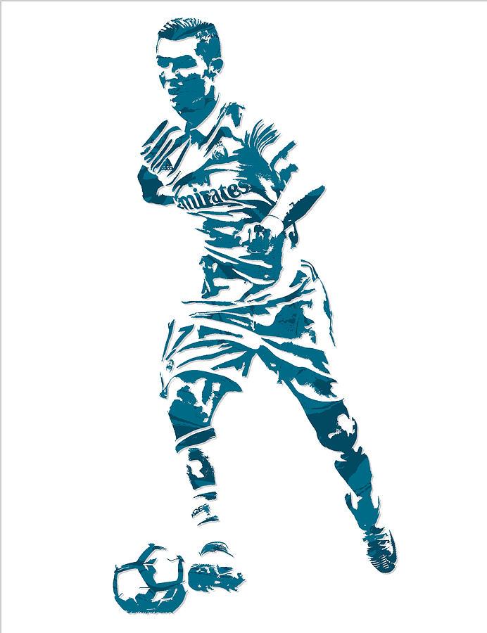 692x900 Cristiano Ronaldo Real Madrid Pixel Art 3 Mixed Media By Joe Hamilton