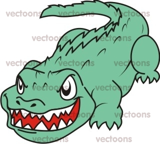320x288 Angry Crocodile Illustration