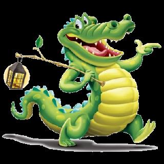 320x320 Crocodile Dock Clip Art
