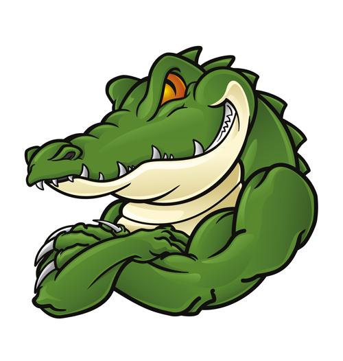 500x526 Photoshop Clipart Crocodile