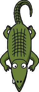126x299 Alligator Clip Art Free Vector 4vector