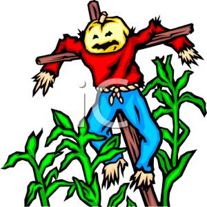 300x300 A Scarecrow Hanging From A Wooden Stake In The Middle Of Corn