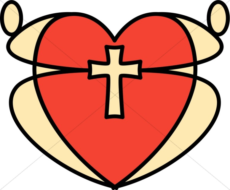 776x643 Graphic Heart And Cross Christian Heart Clipart