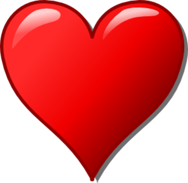 600x584 Heart And Cross Clip Art