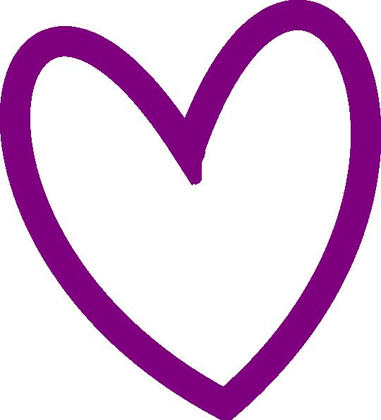 540x596 Heart Outline Clip Art Png
