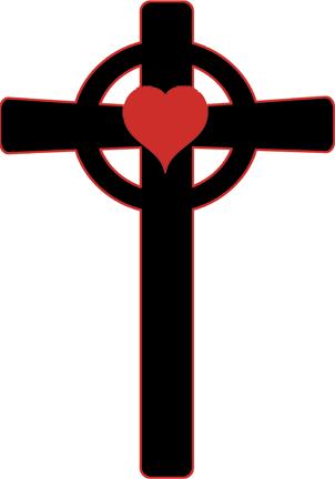 302x432 Heart With Cross Clip Art Clipart Best Amen Art