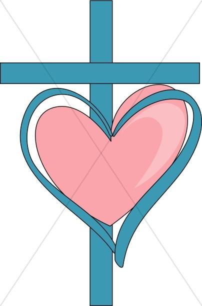 404x612 Sweet Cross And Heart Christian Heart Clipart