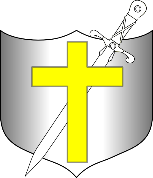 510x593 Cross Sword And Shield Clipart