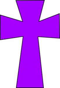 207x300 Medieval Cross Purple 2 Clip Art