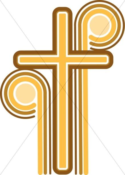 438x612 70's Cross Christian Cipart Cross Clipart