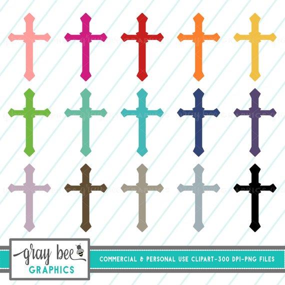 570x570 Sale! Cross Clipart Set, Crosses, Commercial Use, Instant Download
