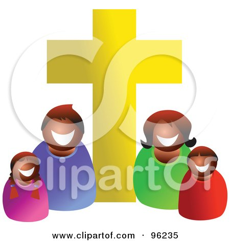 450x470 Royalty Free Clip Art Illustration Of A Christian Kids Holding