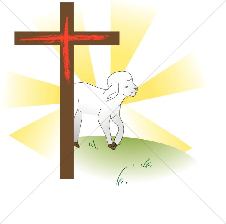 776x770 Cross With Lamb Cross Clipart