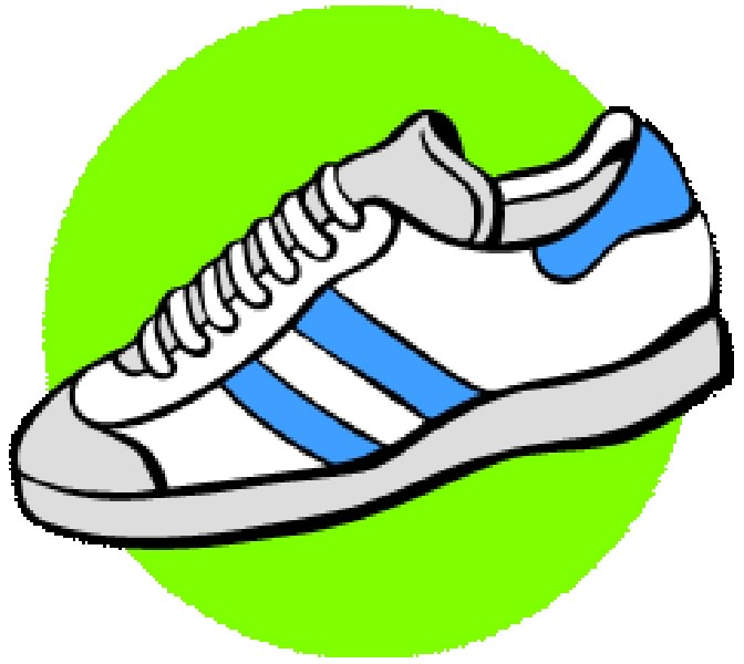 672x600 Cross Country Running Shoes Clip Art