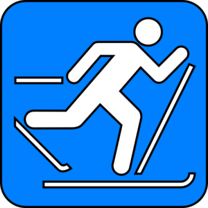 300x300 Cross Country Skiing Symbol Clip Art