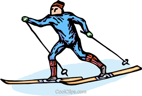 480x324 Cross Country Skier Royalty Free Vector Clip Art Illustration
