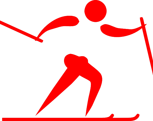 600x476 Pictogram Ski Cross Red Clip Art