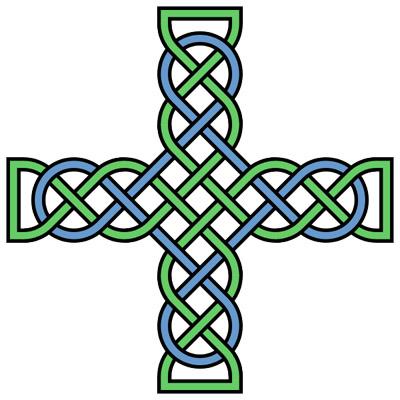 400x400 Celtic Clipart Cross