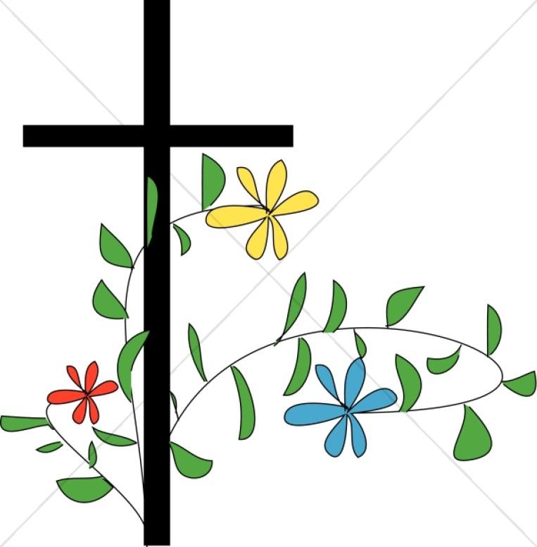 763x776 Flower Clipart Cross