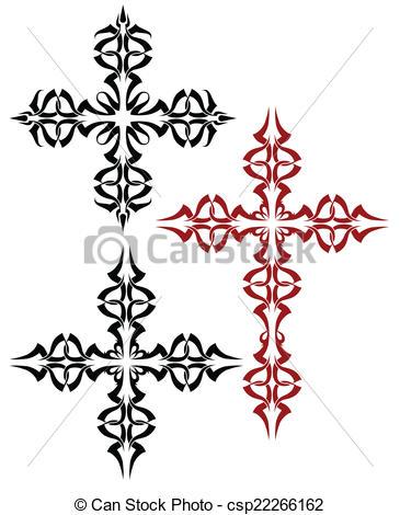 365x470 Tattoo Christian Cross Vector Art Clip Art Vector