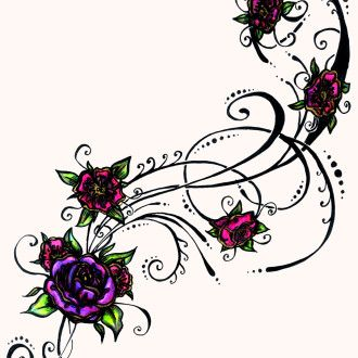 330x330 Tattoo Clipart Floral Design