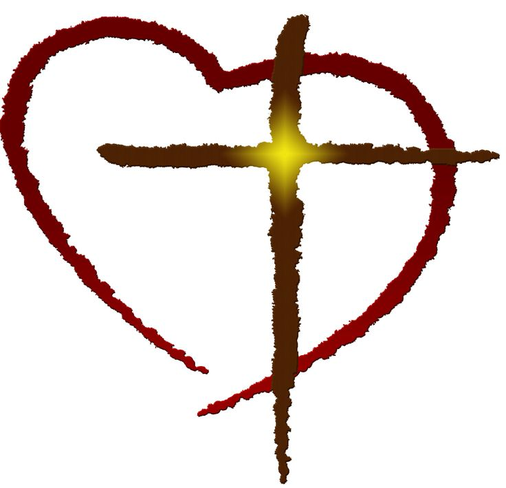 736x709 Clip Art Of Cross With Heart Cliparts Free Download