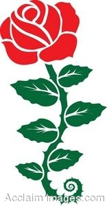 159x300 Red Rose Clipart Rose Vine
