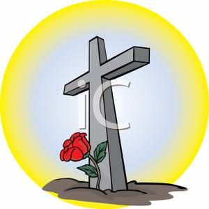 300x300 A Rose Growing By The Cross Of Christ