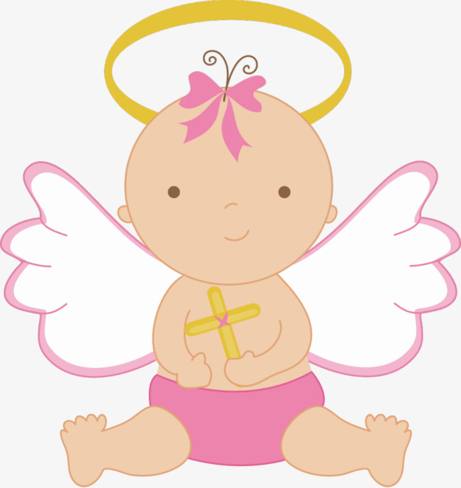 650x687 Angel Baby, Cross, Baby, Lovely Png Image And Clipart For Free
