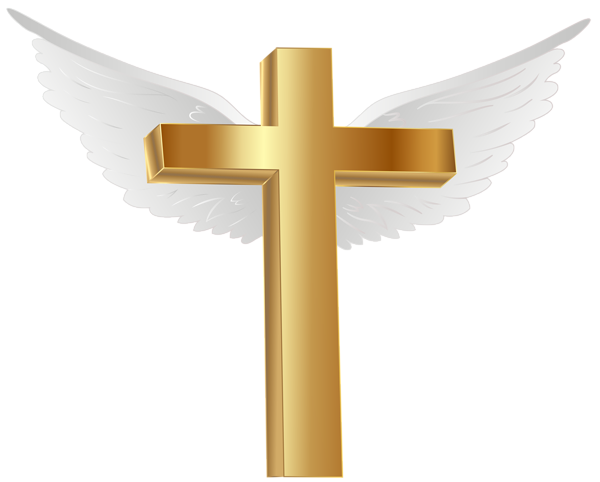 600x482 Gold Cross With Angel Wings Png Clip Art Image Cross