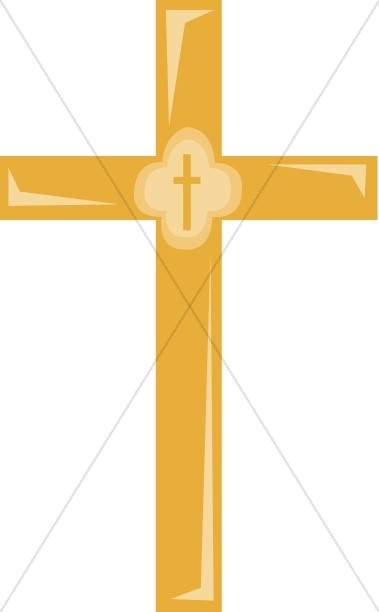 379x612 Golden Cross Clipart