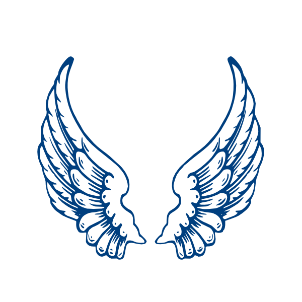 600x600 Angel Wings Template Largeangelwings Clip Art