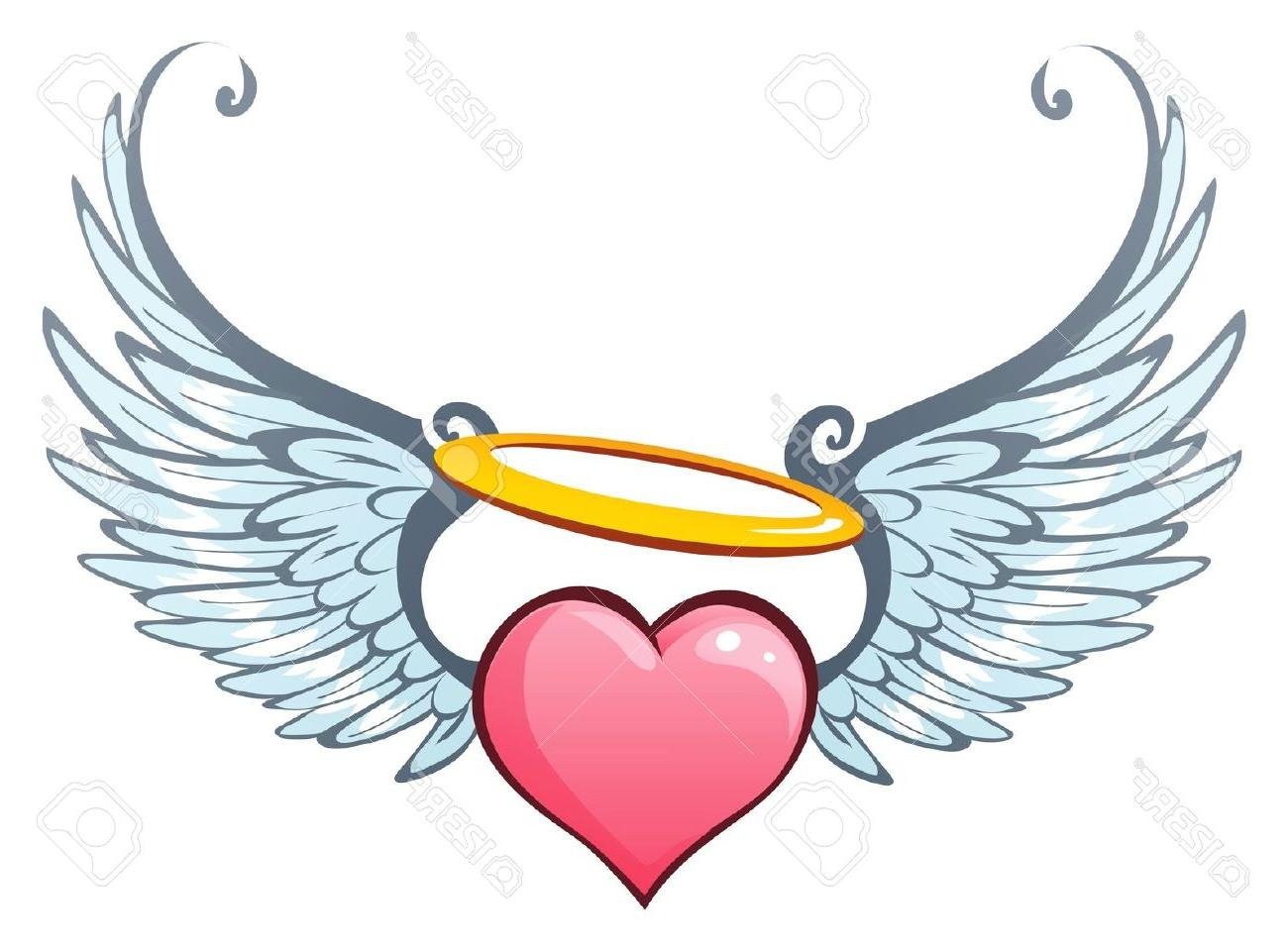 1300x961 Angel Wings Heart Clip Art