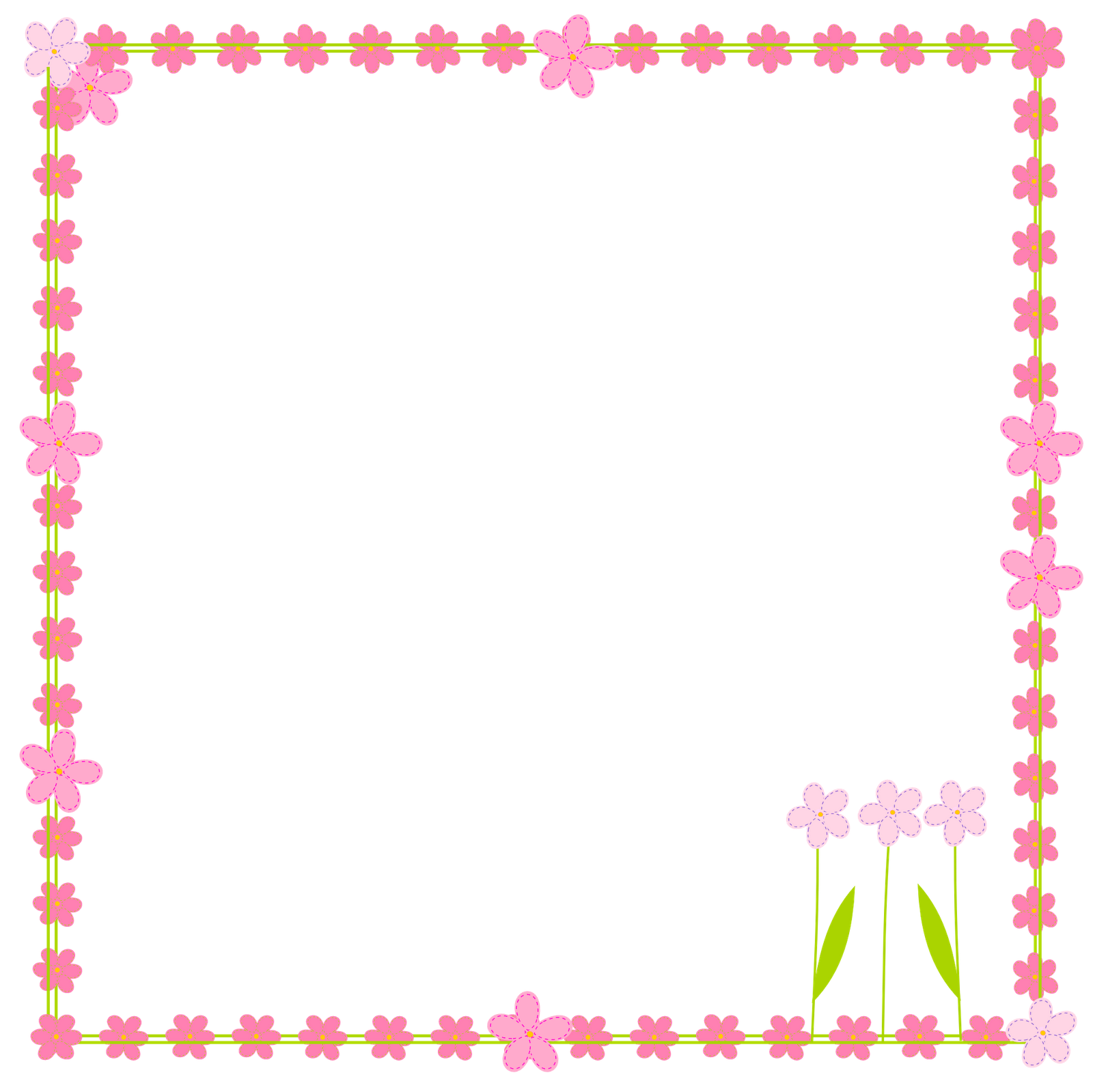 1600x1599 Flower Frame Clipart, Explore Pictures