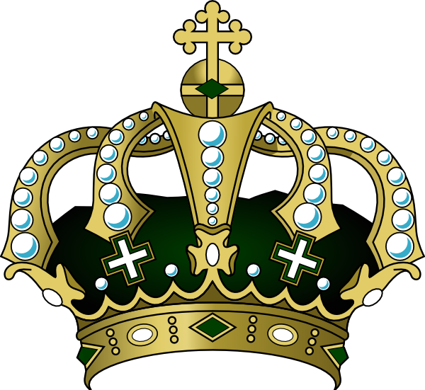 600x551 Royal Blue Crown Clipart