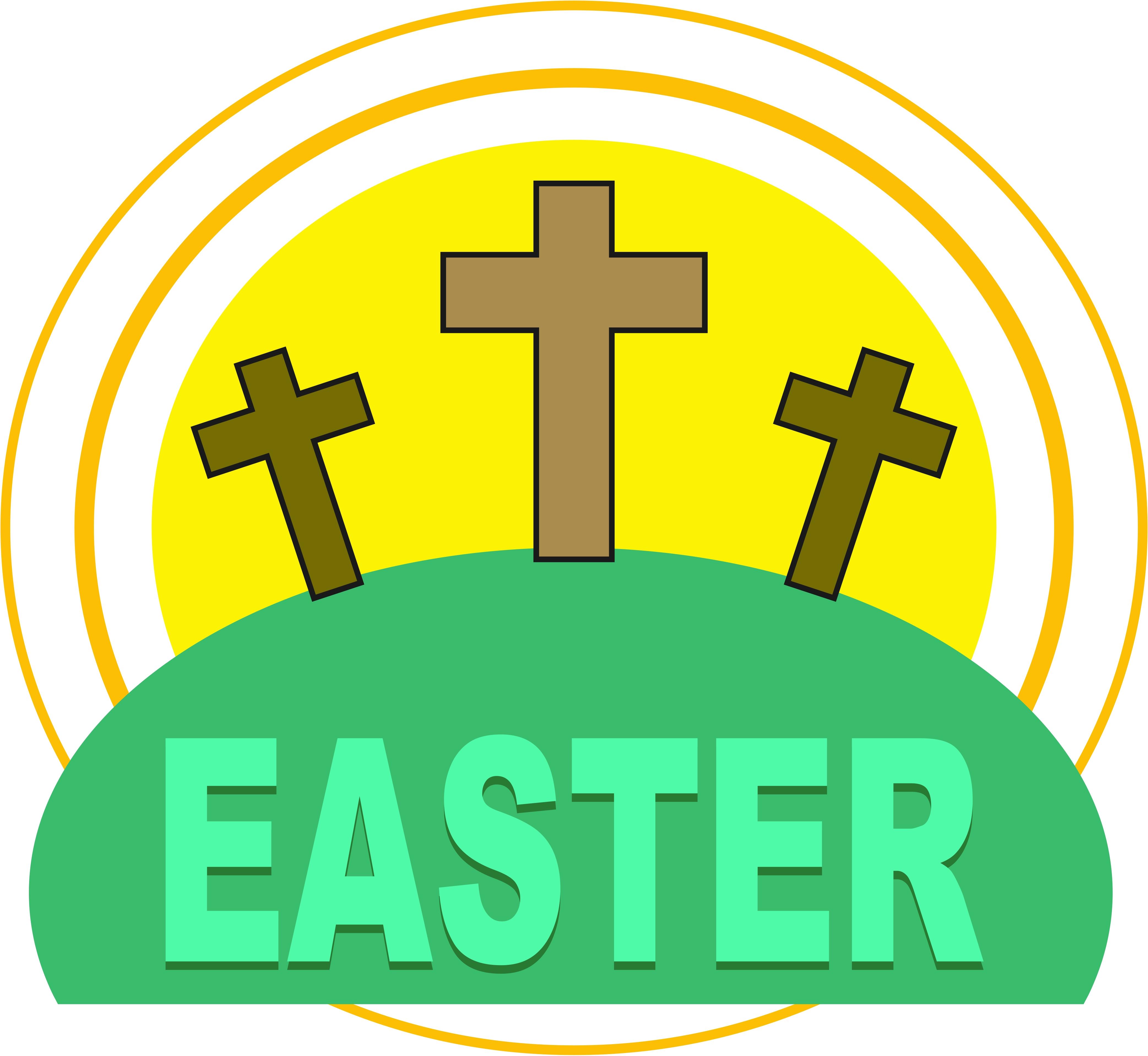 4169x3835 Easter Church Clipart