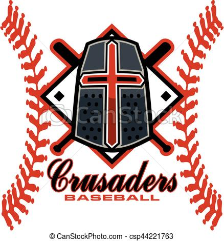 438x470 Crusaders Baseball Team Design With Stitches And Helmet