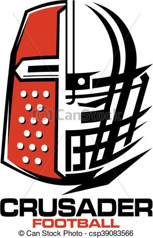 303x470 Crusaders Football Team Design With Helmet And Facemask