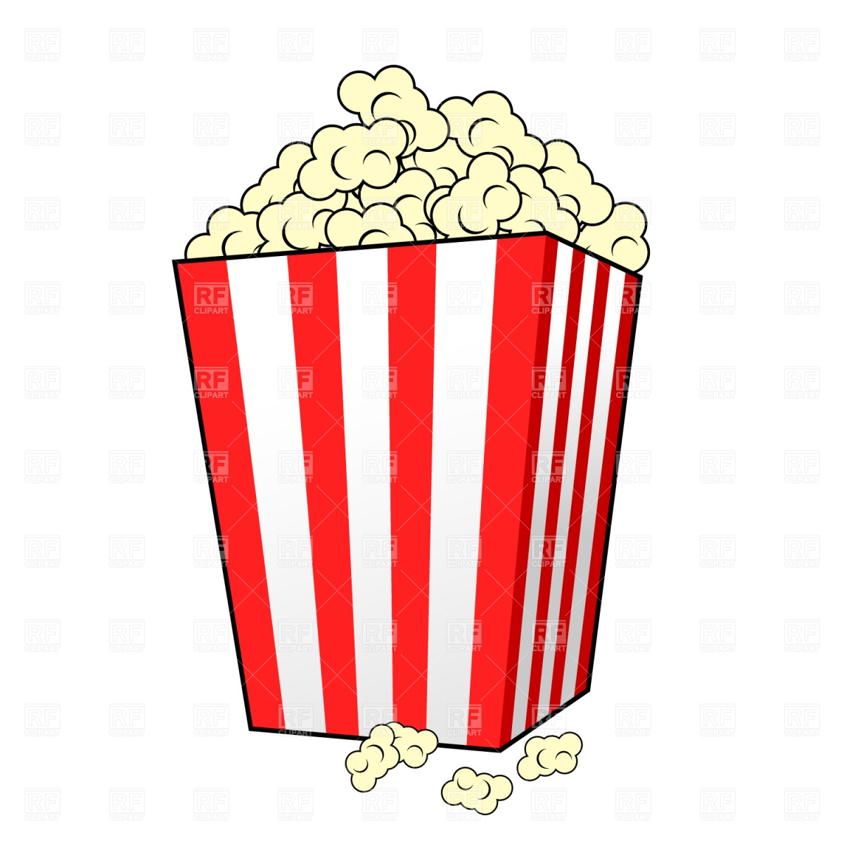 1200x1200 Popcorn Outline Clipart Collection