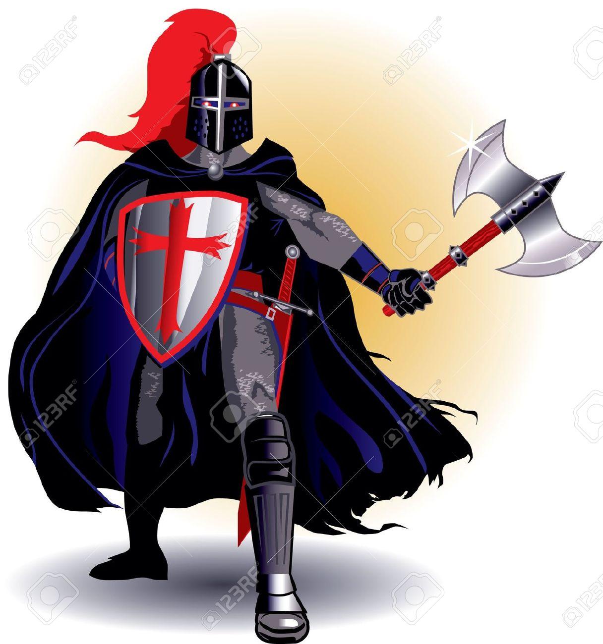 1216x1300 Medieval Black Knight Clipart