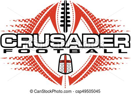 450x321 Crusader Football Team Design With Helmet And Ball For Eps