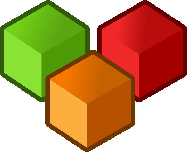 600x488 Cubes Clip Art