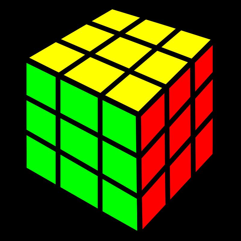 800x800 Free Clipart Rubik Cube Nicubunu