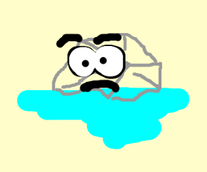 300x250 Ice Cube Clipart Melted
