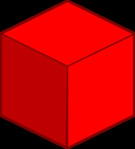 270x297 Big Red Cube Clip Art