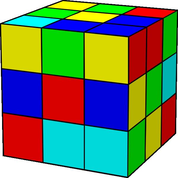 600x597 Rubik Cube Clip Art Free Vector 4vector