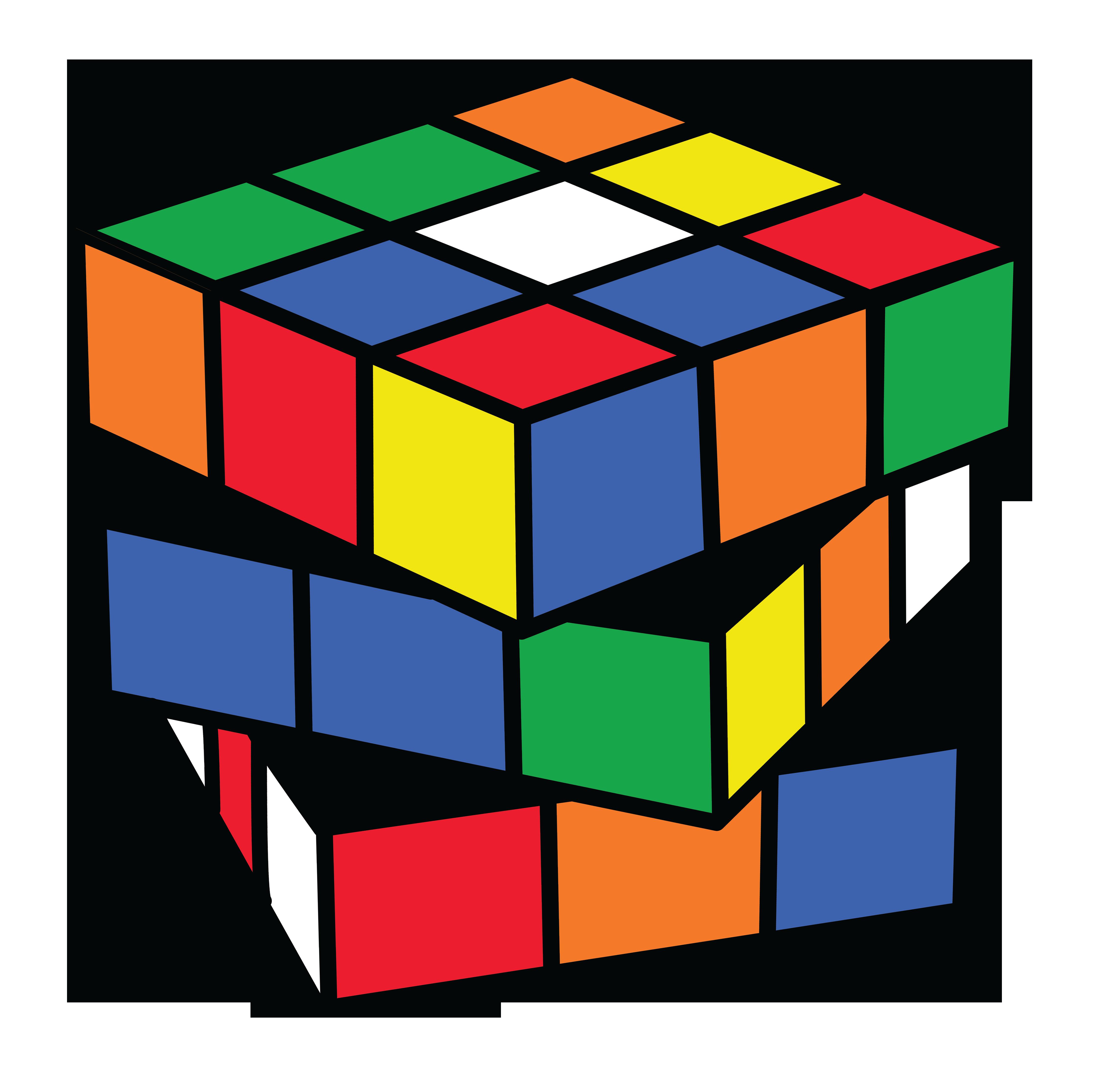 4542x4462 Rubix Cube Color 2 Clip Art