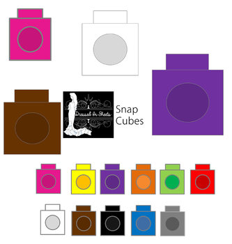 333x350 Snap Cubes Clip Art By Dressed In Sheets Teachers Pay Teachers