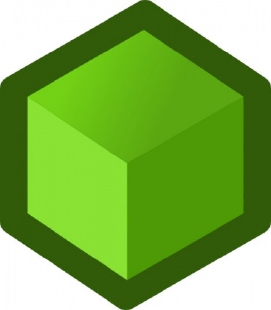 547x626 Cube Clipart Icon Cube Green Clip